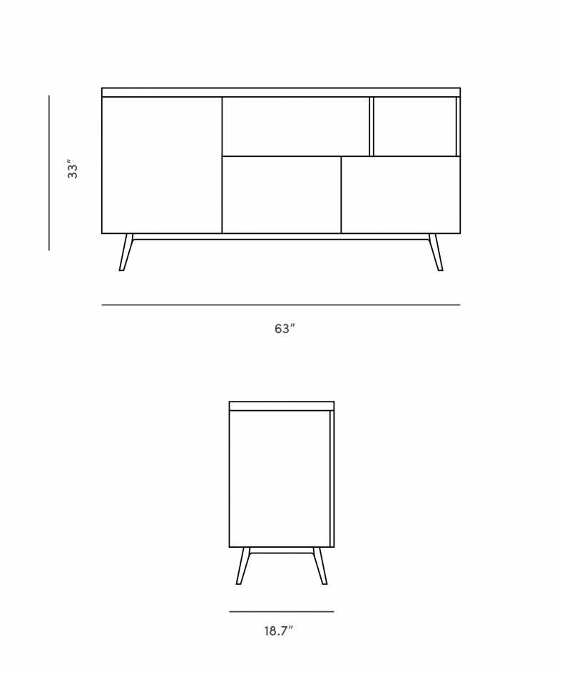 Dimensions for Andrej Sideboard