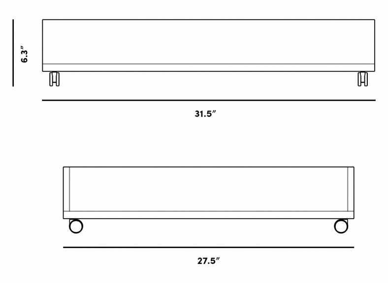 Dimensions for Bo Storage Drawer