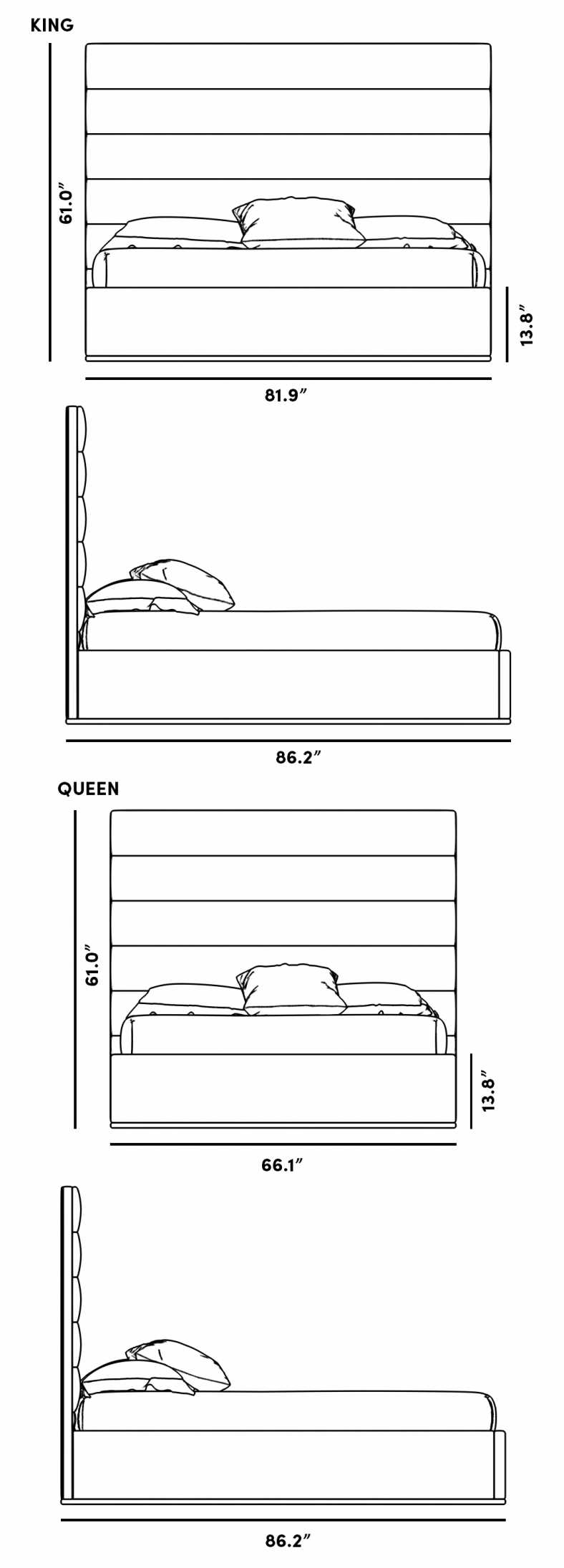 Dimensions for Cohen Bed