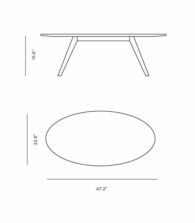 Dimensions for Dolf Coffee Table