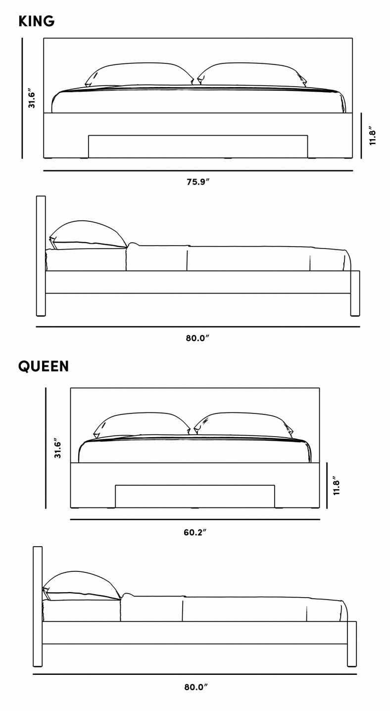 Dimensions for Fredrik Bed