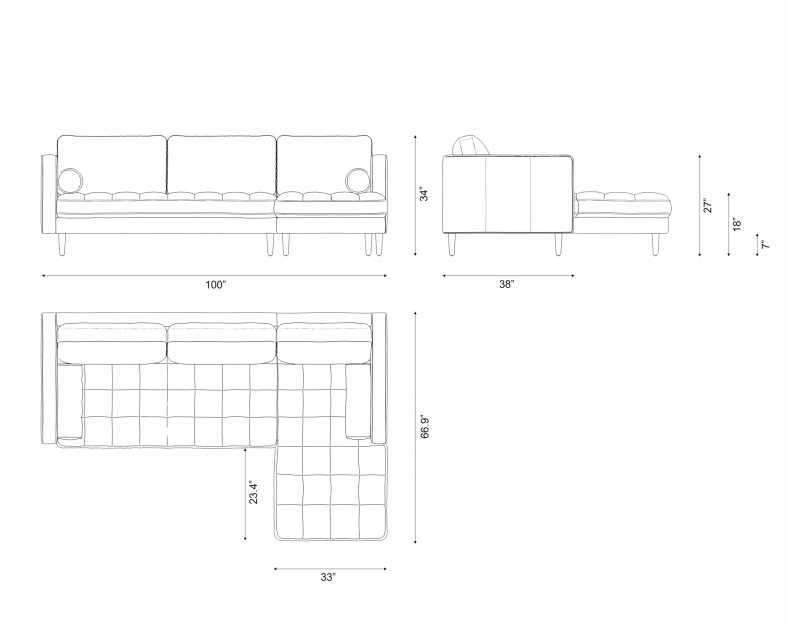 Dimensions for Luca Sectional