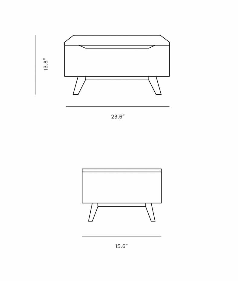 Dimensions for Mikkel Night Stand