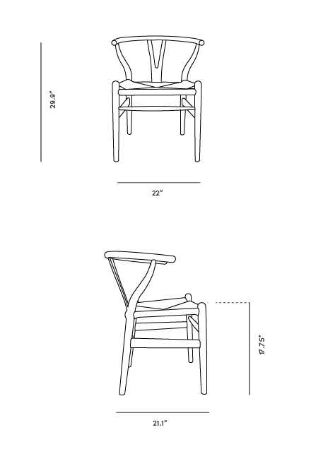Dimensions for Wishbone Chair